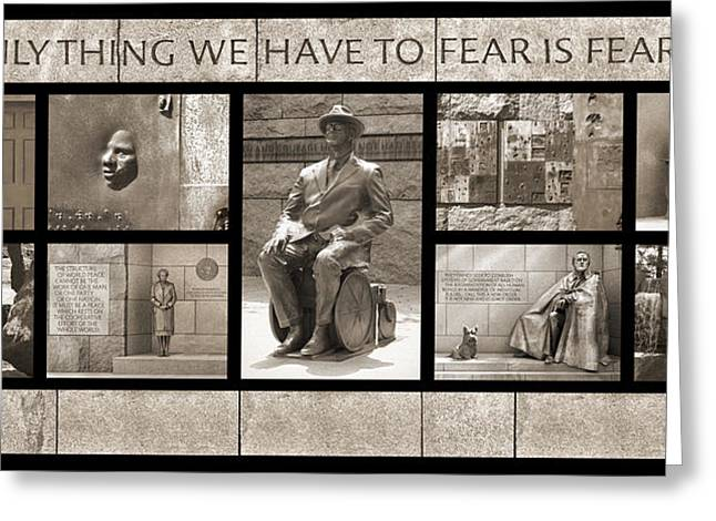Great Depression Greeting Cards - WIP - FDR Memorial - Washington DC Greeting Card by Mike McGlothlen