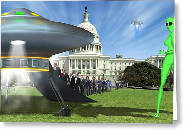 Capitol Digital Greeting Cards - WIP - Washington Field Trip Greeting Card by Mike McGlothlen