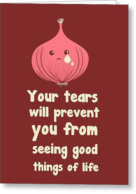 Cute Digital Art Greeting Cards - Wipe off your tears Greeting Card by Neelanjana  Bandyopadhyay