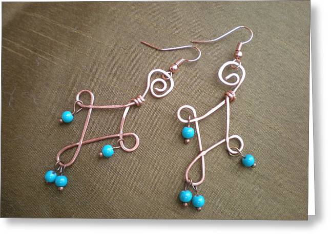 Handcrafted Jewelry Greeting Cards - Wire Works Greeting Card by Beth Sebring