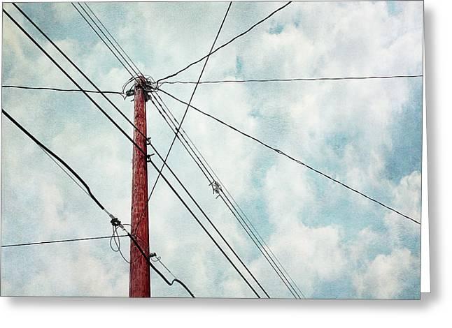 wired Greeting Card by Priska Wettstein