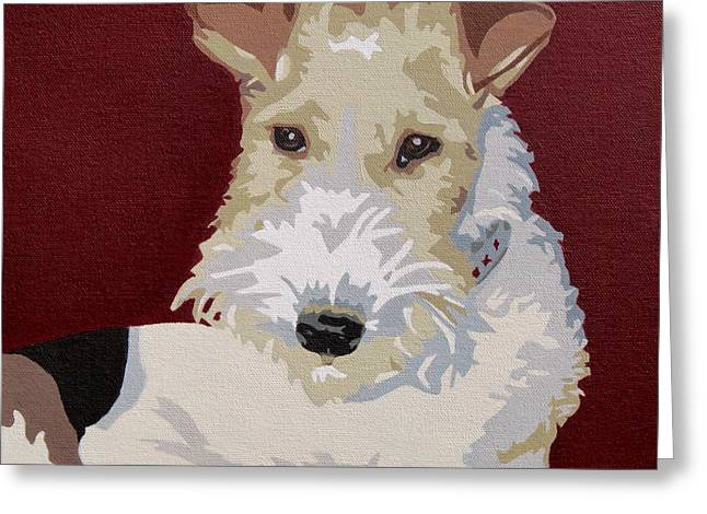 Wirehaired Fox Terrier Greeting Card by Slade Roberts