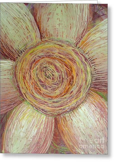 Wiry Sunflower Greeting Card by Anna Skaradzinska
