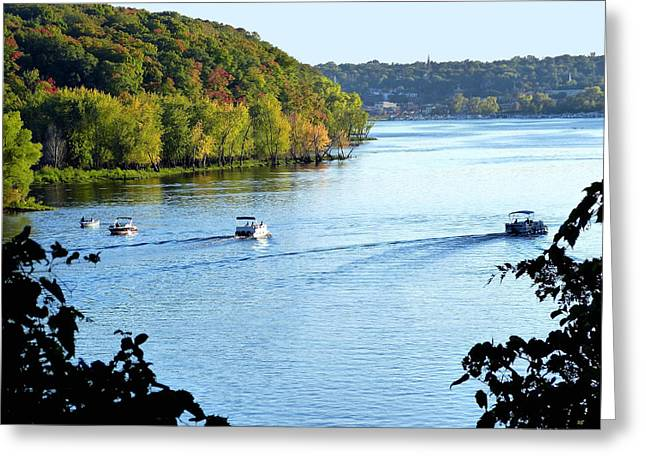Wisconsin Fishing Greeting Cards - Wisconsin And Minnesota Greeting Card by Will Borden