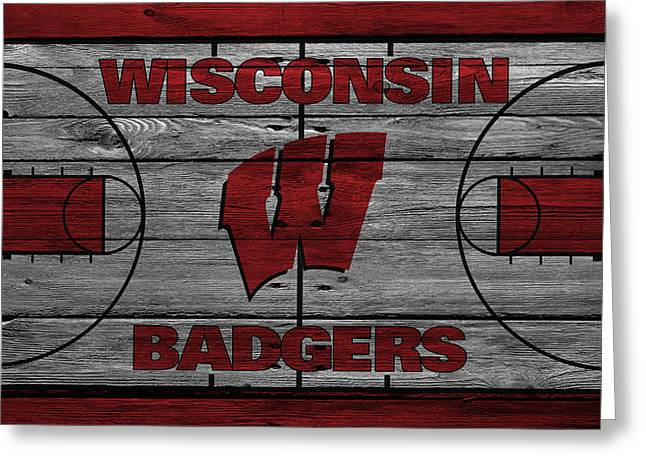 Coach Greeting Cards - Wisconsin Badger Greeting Card by Joe Hamilton