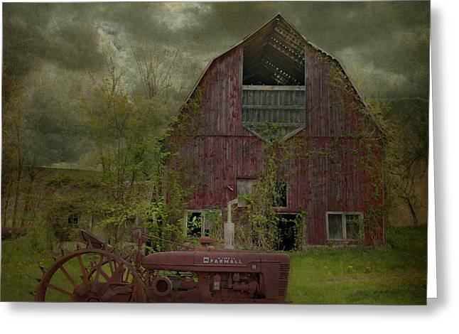 Wisconsin Barn 3 Greeting Card by Jeff Burgess