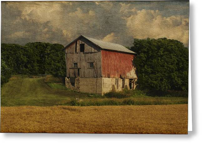 Fieldstone Greeting Cards - Wisconsin Barn Greeting Card by Jack Zulli