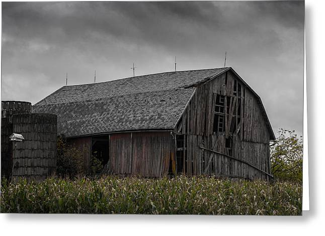 Barn Storm Greeting Cards - Wisconsin Barn Greeting Card by Joseph Smith