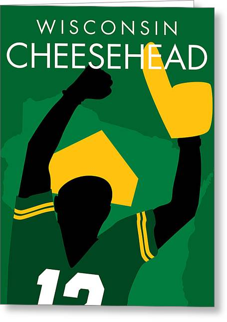 Muskie Greeting Cards - Wisconsin Cheesehead Greeting Card by Geoff Strehlow