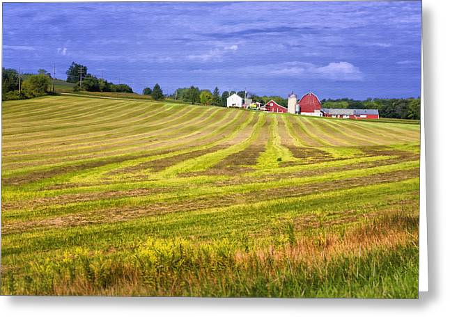 Wisconsin Barn Greeting Cards - Wisconsin Dawn Greeting Card by Joan Carroll