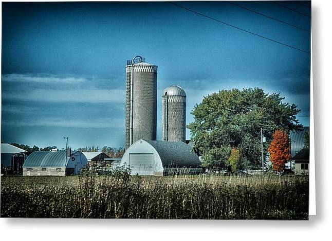Planet Factory Greeting Cards - Wisconsin Farm 4 Greeting Card by Todd and candice Dailey