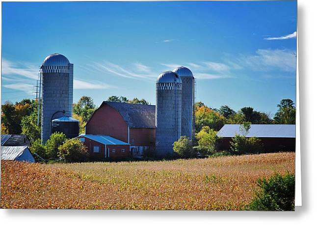 Planet Factory Greeting Cards - Wisconsin Farm 5 Greeting Card by Todd and candice Dailey