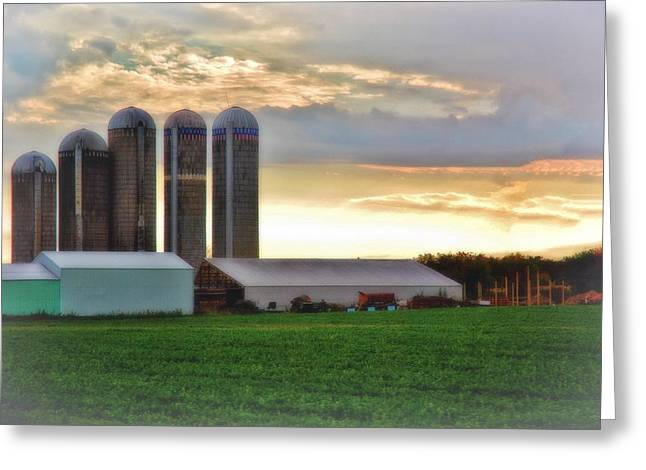 Planet Factory Greeting Cards - Wisconsin Farm 8 Greeting Card by Todd and candice Dailey