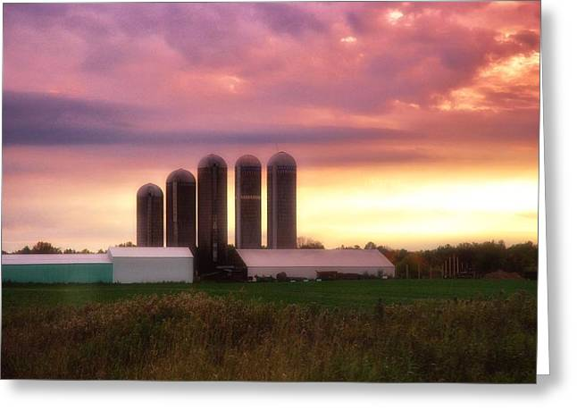 Planet Factory Greeting Cards - Wisconsin Farm 9 Greeting Card by Todd and candice Dailey