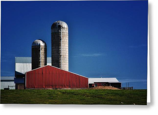 Planet Factory Greeting Cards - Wisconsin Farm Greeting Card by Todd and candice Dailey