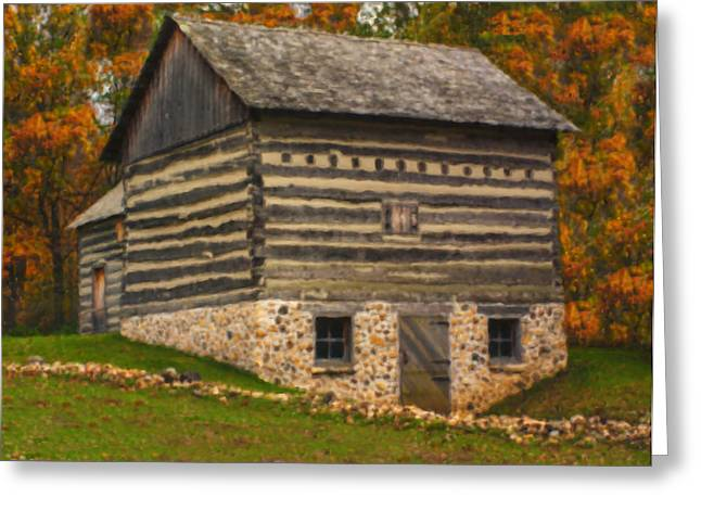 Cattle-shed Greeting Cards - Wisconsin Homestead Greeting Card by Jack Zulli