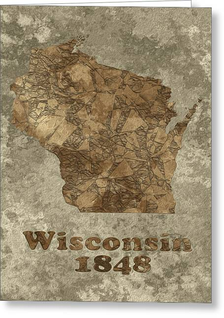 Abstracted Colorful Reality Greeting Cards - Wisconsin Greeting Card by Jack Zulli
