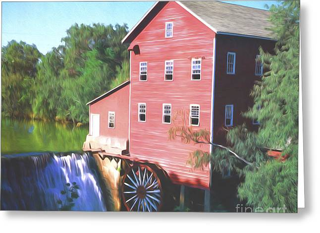 Grist Mill Greeting Cards - Wisconsin Mill Greeting Card by Steve Bailey