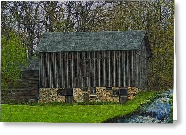 Barn Door Digital Greeting Cards - Wisconsin Rustic 2 Greeting Card by Jack Zulli