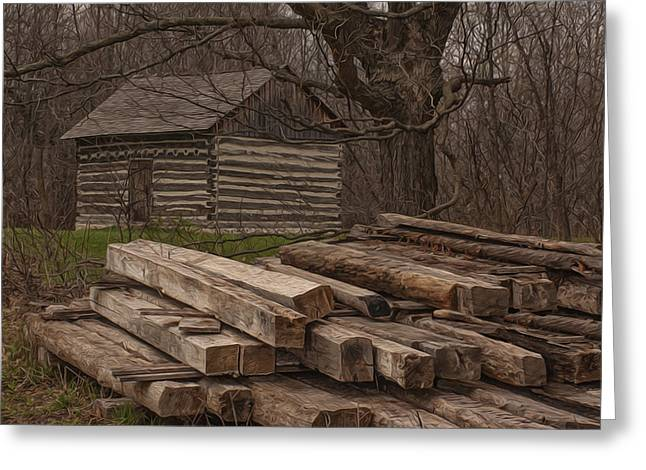 Rustic Cabin Greeting Cards - Wisconsin Rustic Greeting Card by Jack Zulli
