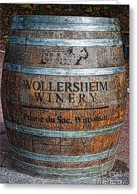 Straps Greeting Cards - Wisconsin Wine Barrel Greeting Card by Trey Foerster