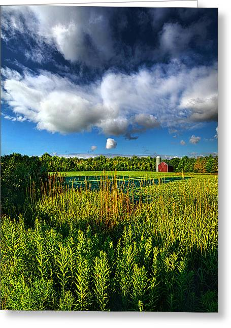 Field. Cloud Greeting Cards - Wisconsinland Greeting Card by Phil Koch