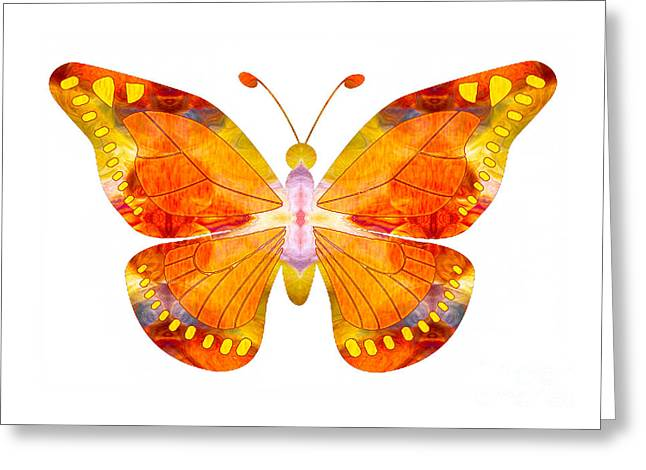 Owfotografik Mixed Media Greeting Cards - Wisdom and Flight Abstract Butterfly Art by Omaste Witkowski Greeting Card by Omaste Witkowski
