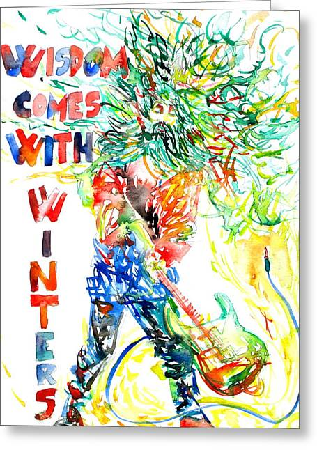 Oscar Wilde Paintings Greeting Cards - Wisdom Comes With Winters Greeting Card by Fabrizio Cassetta