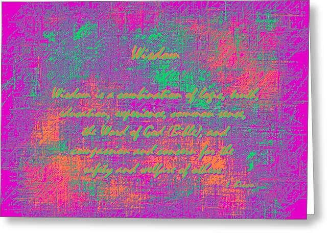 Common Sense Greeting Cards - Wisdom Enhanced Color Greeting Card by L Brown