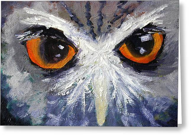 Owlets Greeting Cards - Wisdom Greeting Card by Nancy Merkle