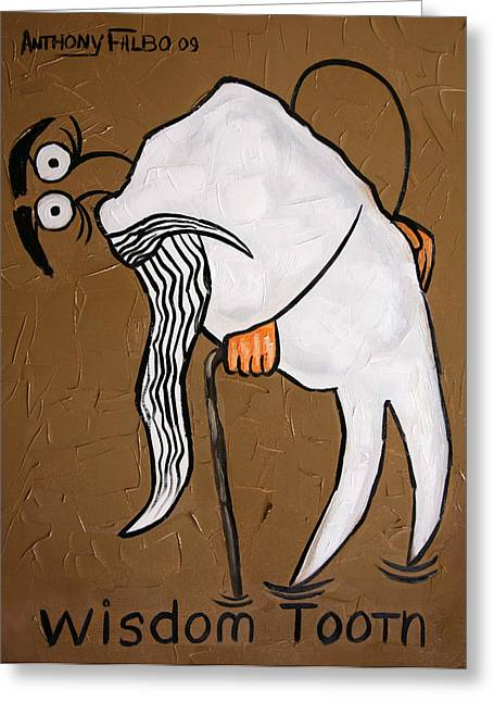 Metal Art Greeting Cards - Wisdom Tooth Greeting Card by Anthony Falbo
