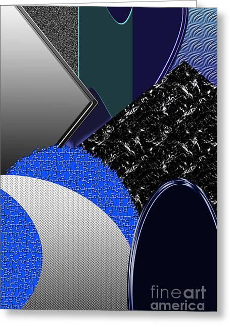 Geometric Digital Art Greeting Cards - Wise Bestowment Greeting Card by Tina M Wenger