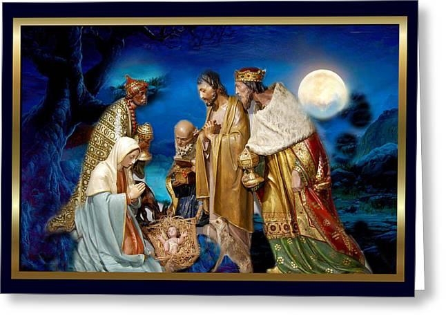 Jesus Greeting Cards - Wise Men Still Seek Him 2 Greeting Card by Karen Showell