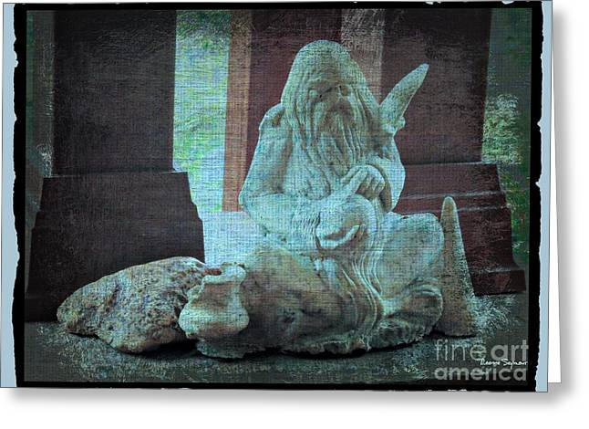 Old Man With Beard Greeting Cards - Wise Old Man Archetyple Greeting Card by Leanne Seymour