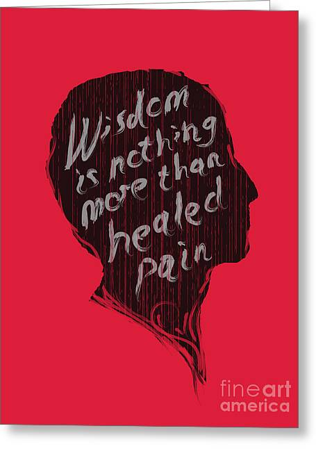Wisdom Greeting Cards - Wise Words Greeting Card by Budi Kwan
