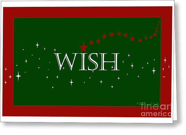 Susan M. Smith Greeting Cards - WISH and Stars Greeting Card by Susan Smith