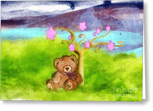 Watercolor Fairytale Greeting Cards - Wish Upon a Star Greeting Card by Mo T