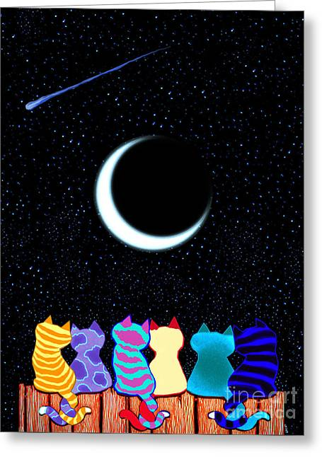 Wishing Star Greeting Cards - Wish Upon A Star Greeting Card by Nick Gustafson