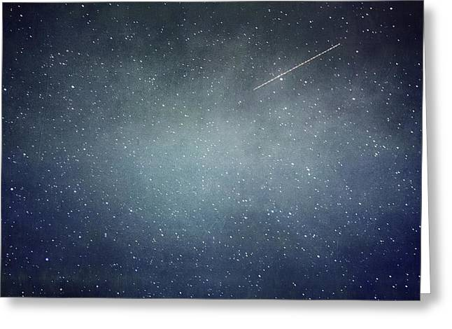 Wish Upon A Star Greeting Card by Violet Gray