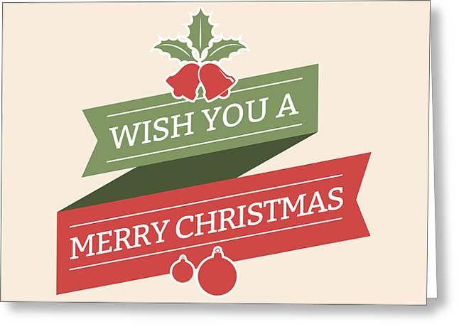 Wish You A Merry Christmas Greeting Card by Florian Rodarte