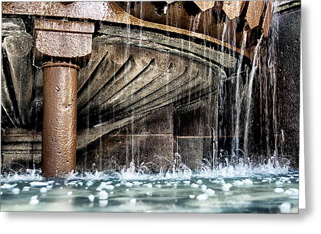 Flowing Fountain Greeting Cards - Wishes and Bubbles Fountain Greeting Card by Nomad Art And  Design