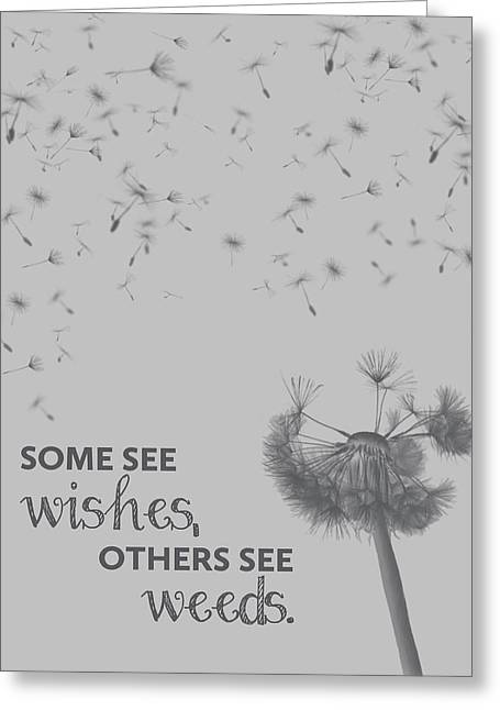Dandelion Digital Greeting Cards - Wishes and Weeds Greeting Card by Nancy Ingersoll