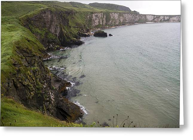 Mystical Landscape Greeting Cards - Wishes from the Sea Northern Ireland Greeting Card by Betsy C  Knapp