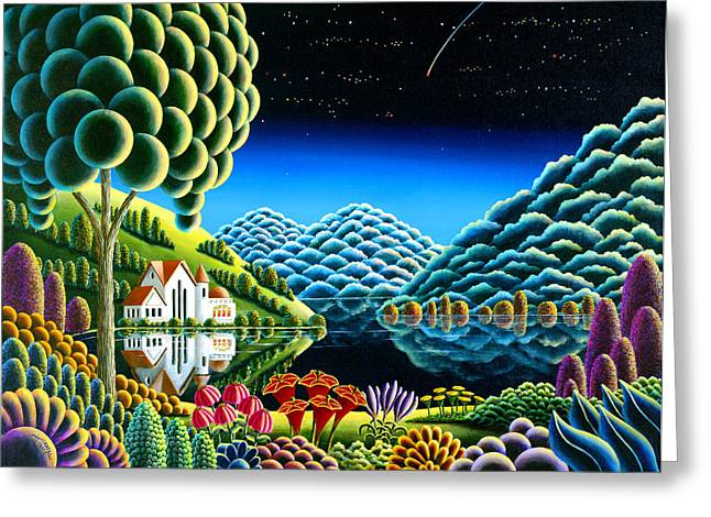 Mythical Landscape Greeting Cards - Wishing 12 Greeting Card by Andy Russell