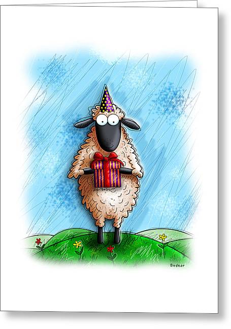 Humorous Greeting Cards Greeting Cards - Wishing Ewe  Greeting Card by Gary Bodnar