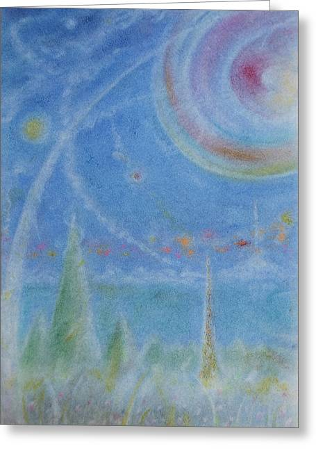 Mystical Landscape Pastels Greeting Cards - Wishing Greeting Card by Joel Rudin