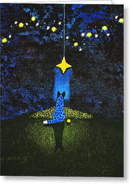 Recently Sold -  - Wishes Greeting Cards - Wishing on a Star Greeting Card by Todd Young
