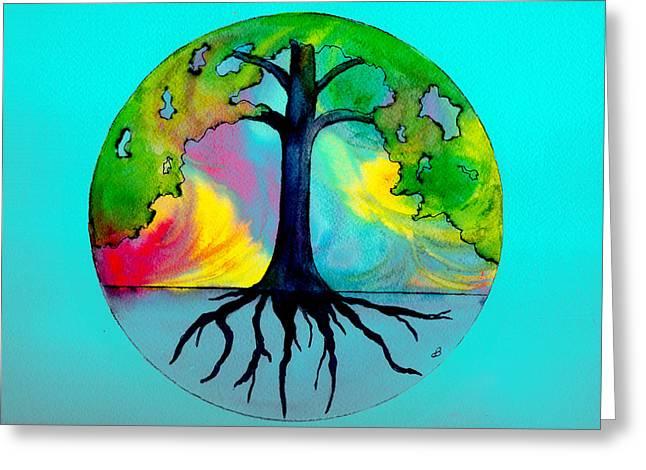 Wishing Tree Greeting Card by Brenda Owen