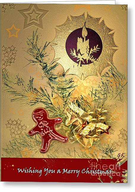 Wishing You A Merry Christmas Greeting Card by Gerlinde Keating - Keating Associates Inc