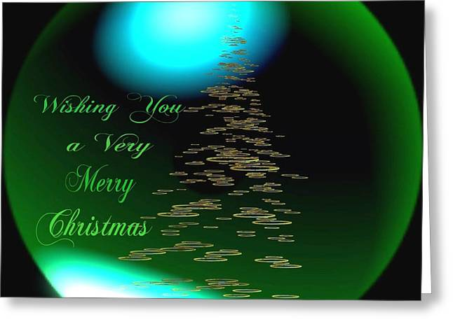 Gold Buyers Greeting Cards - Wishing You a Very Merry Chrirstmas  Greeting Card by Gail Matthews